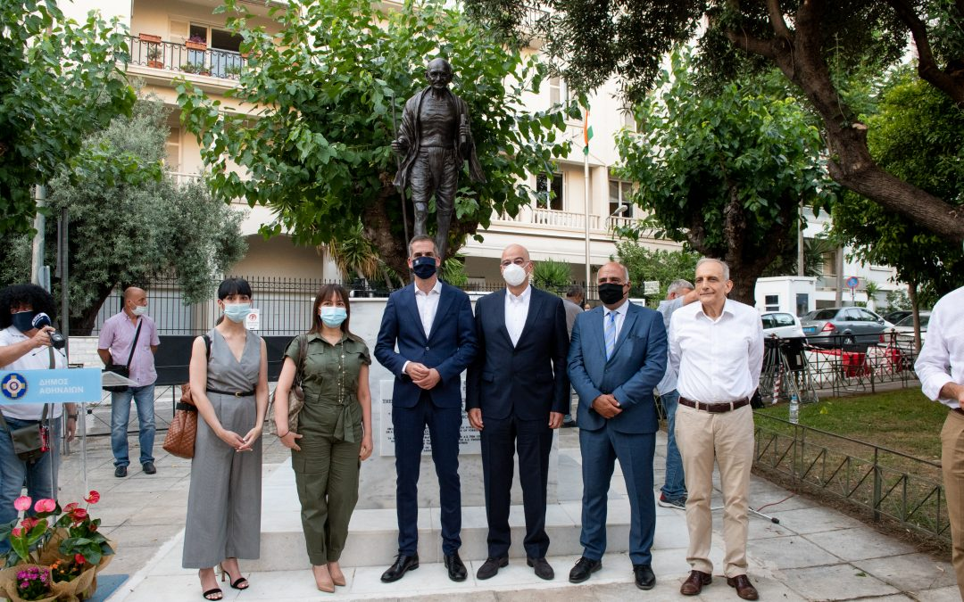 Our Law Firm at the Unveiling of the Statue of Mahatma Gandhi