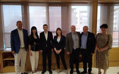 Τhe Former Deputy Prime Minister of Romania, Mr Daniel Constantin visited our office in Thessaloniki.